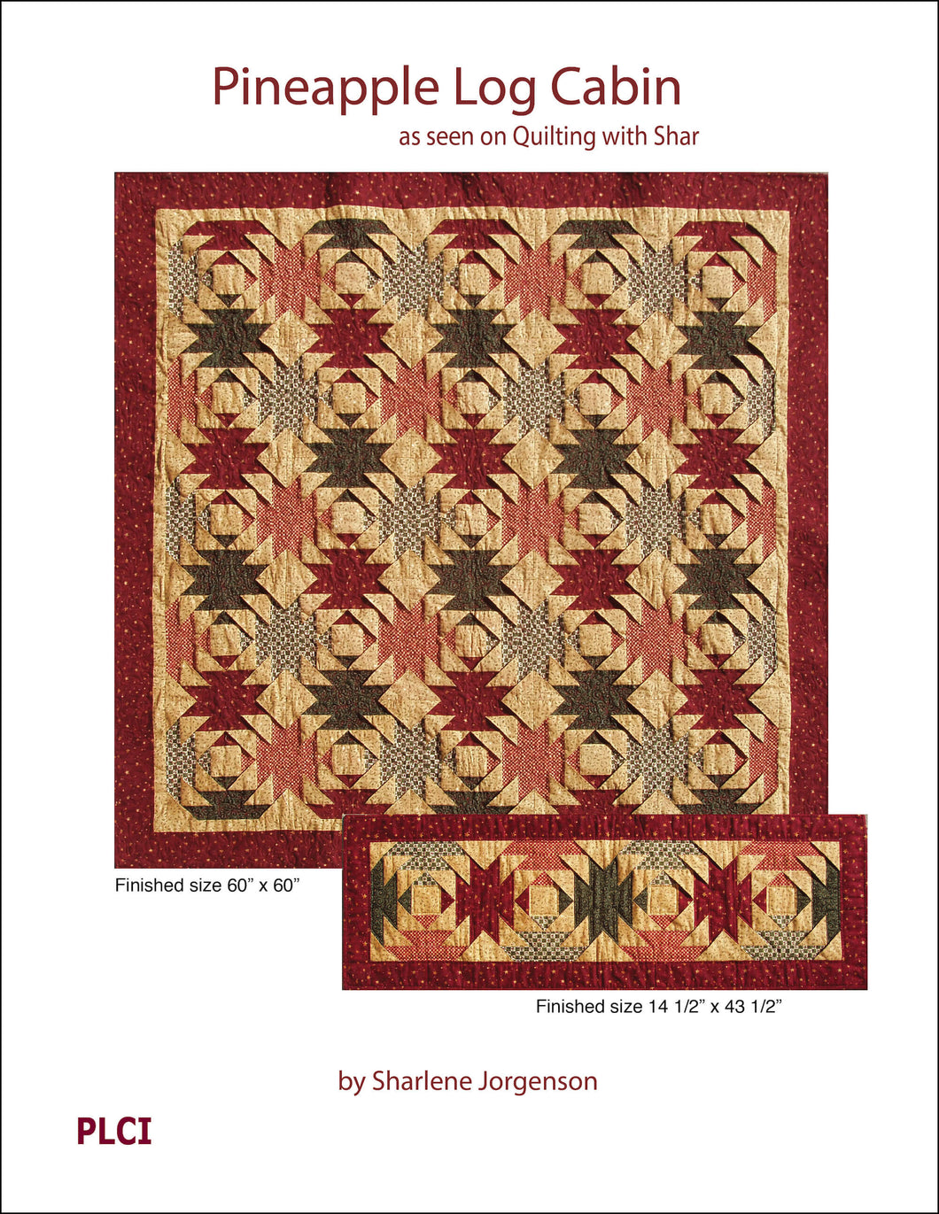 book cover pineapple log cabin quilt pattern