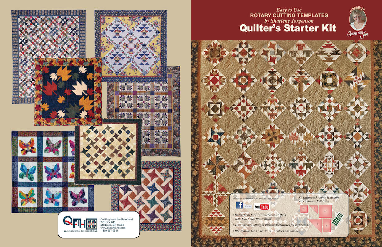 Quilter S Starter Kit Quilt Template By Quilting From