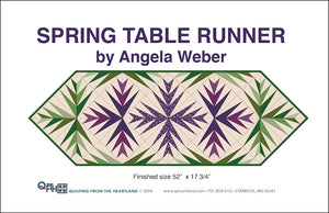 spring table runner quilt design