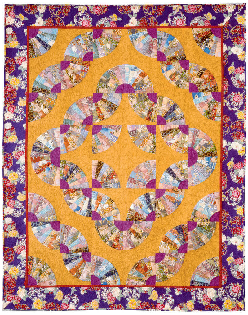 fan variations quilt template by quilting from the heartland