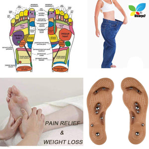 Slimming iInsoles acupressure magnetic therapy massage