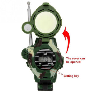 2pcs  Spy Gadgets Wristwatch Walkie Talkie Digital Display