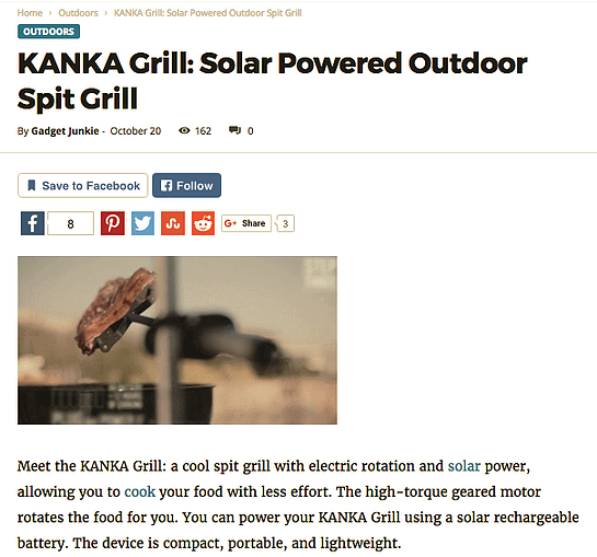 Kanka Grill - Press