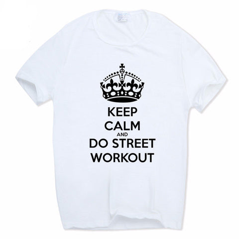 T-Shirt blanc manches courtes Street Workout