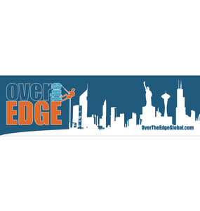 Over the Edge Bumper Stickers - Blue