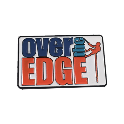 Over The Edge Logo Pin