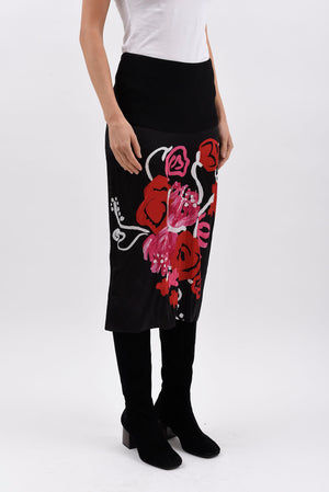 Floral Print Skirt - Multicolor - IT 40