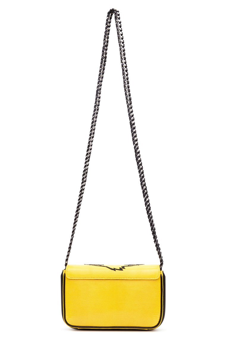 "Yellow ""Tweety"" Small Lizard Skin Bag"