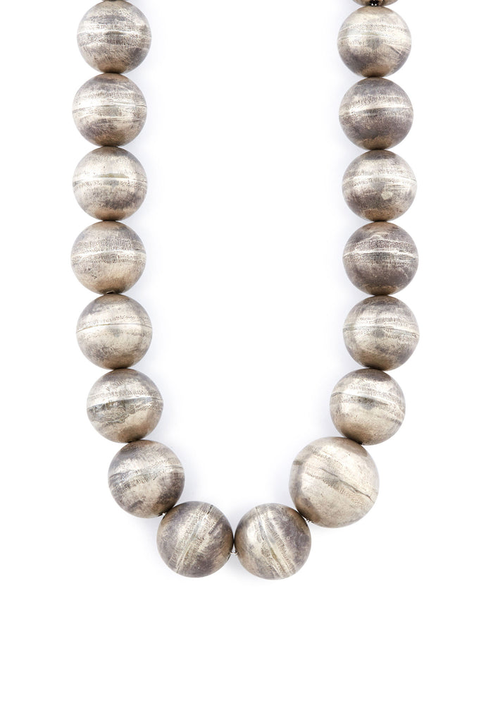 Sterling Silver Extra Large Bead Necklace