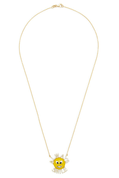 18K Gold and Diamond Always Smile Necklace