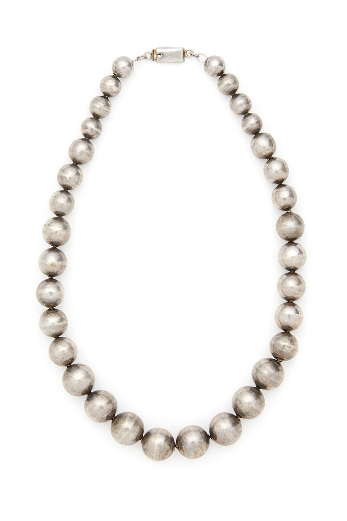 Sterling Silver Large Bead Necklace