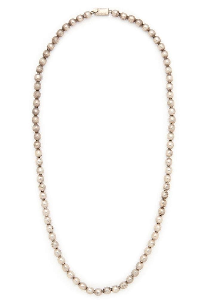 Sterling Silver Extra Small Bead 26 Inch Necklace