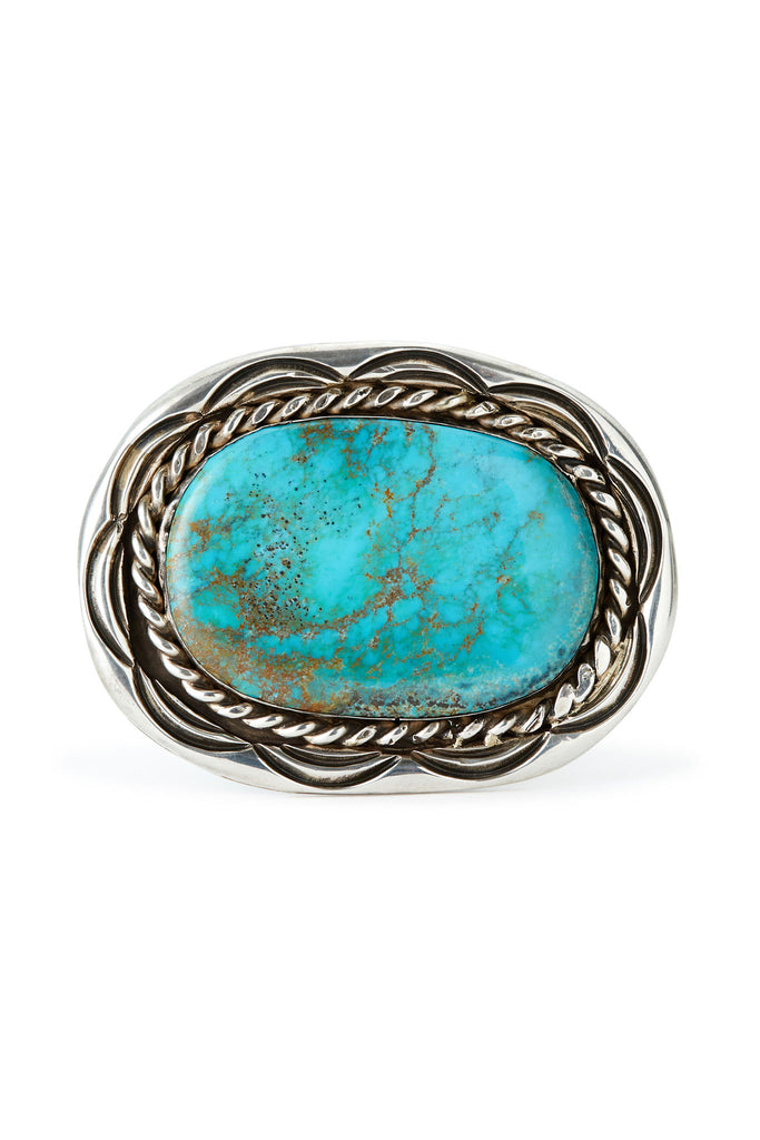 Sterling Silver Turquoise Small Belt Buckle