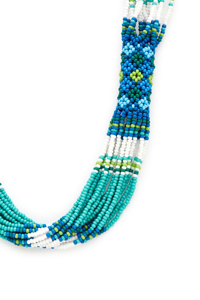 Turquoise Short Beaded Necklace