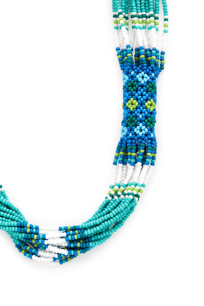 Turquoise Long Beaded Necklace