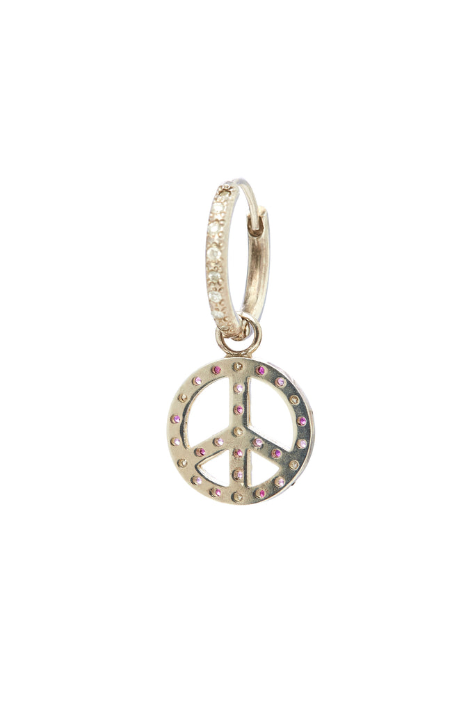 Sterling Silver Diamond and Sapphire Peace Charm