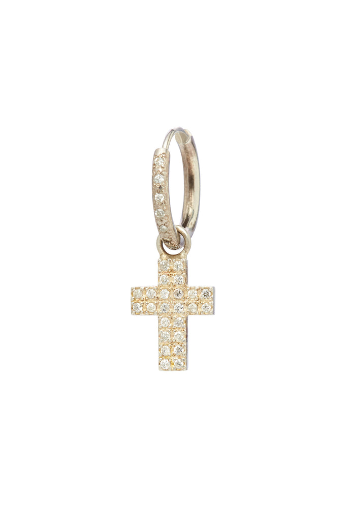 Sterling Silver and Diamond Cross Charm