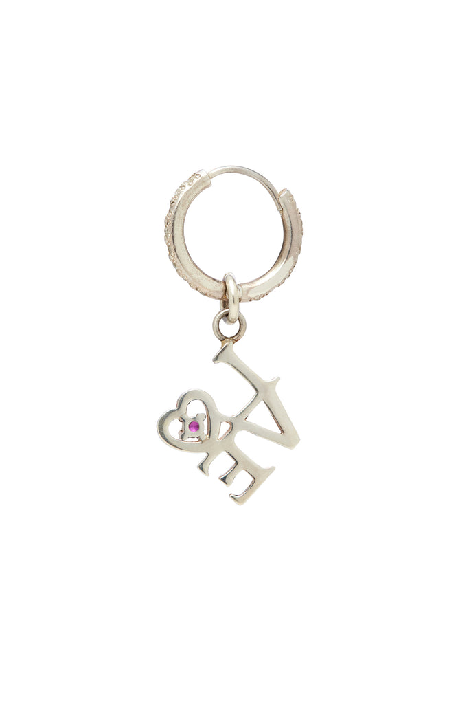 Sterling Silver and Sapphire Love Charm