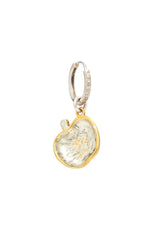 Sterling Silver and Gold Plated Apple Charm