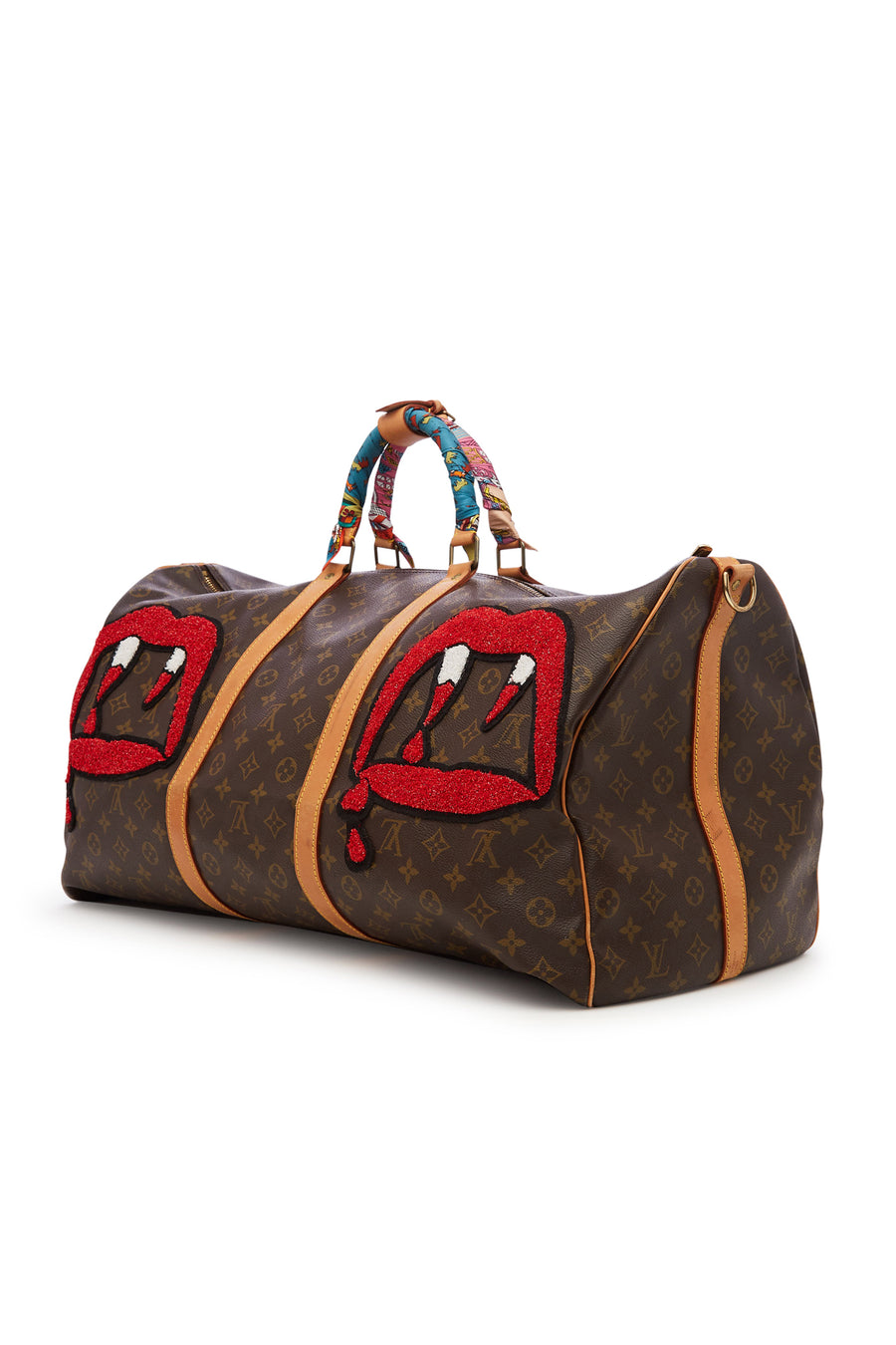 "Vintage Monogram Louis Vuitton Keepall 60 ""Pacman"" Duffle"