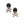 Load image into Gallery viewer, 18K White Gold and Black Agate Skull with Diamonds Earrings
