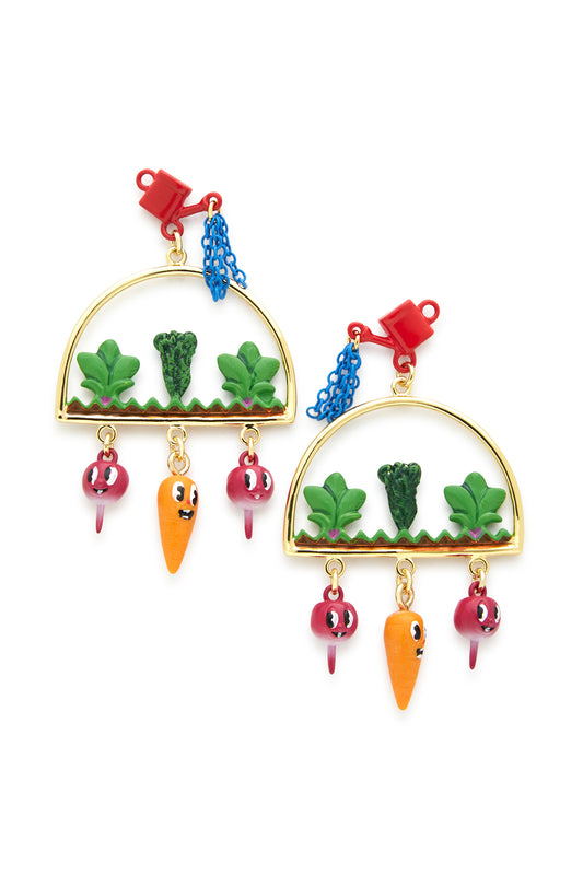 Carrot and Turnip Garden Earring