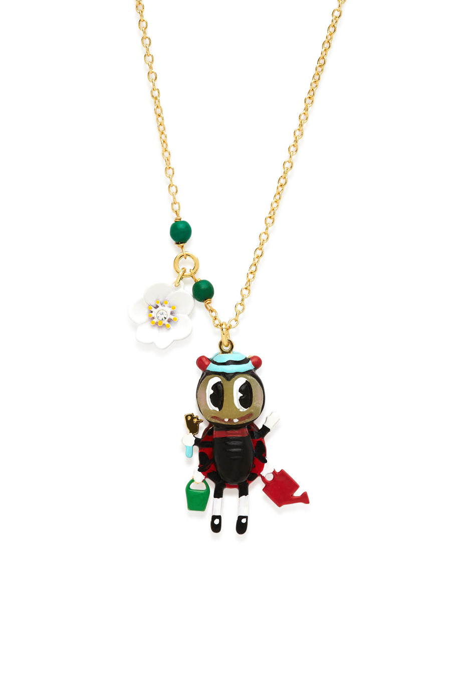 Lady Bug with Tools Necklace