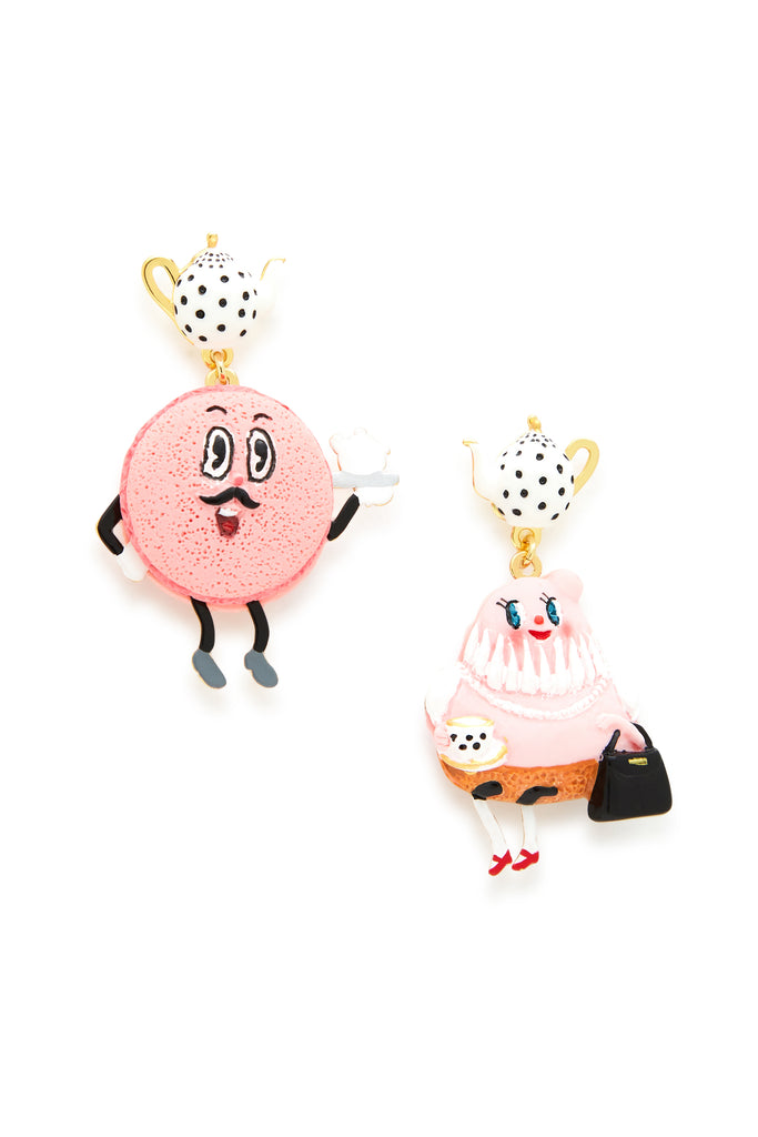 Mr. Macaron and Mrs. Tart Earrings
