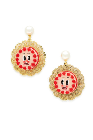 Nervous Strawberry Cake Earrings