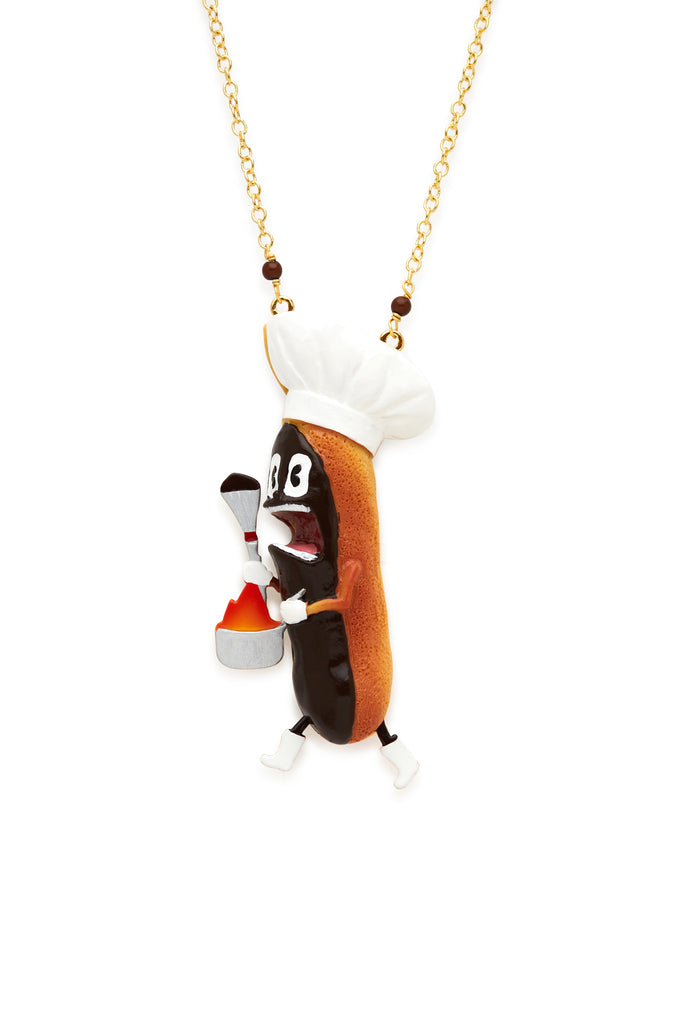 Screaming Éclair Necklace