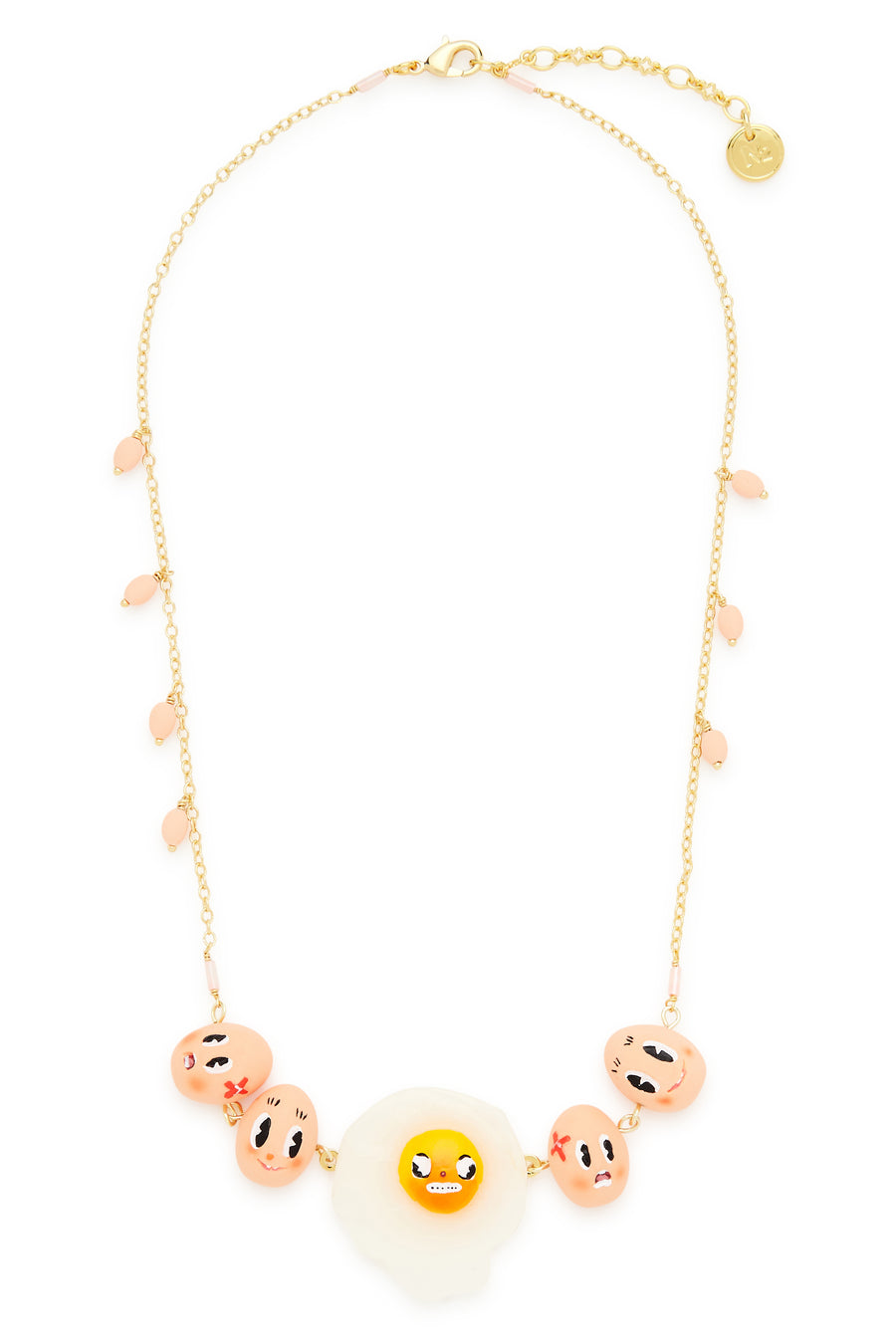 Fried Egg and Friends Necklace