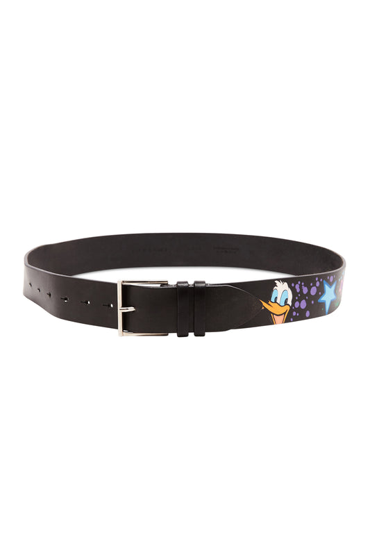 Black Custom Donald Character Graffiti Belt