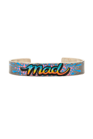 Sterling Silver Mad Graffiti Bracelet