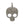 Load image into Gallery viewer, Sterling Silver Diamond Skull Pendant