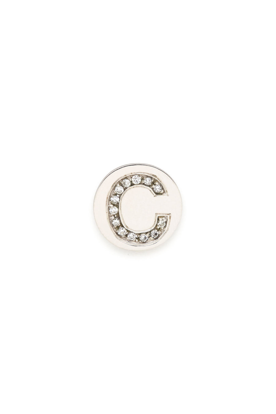 Sterling Silver & Diamond Initial Magnetic Charm - C