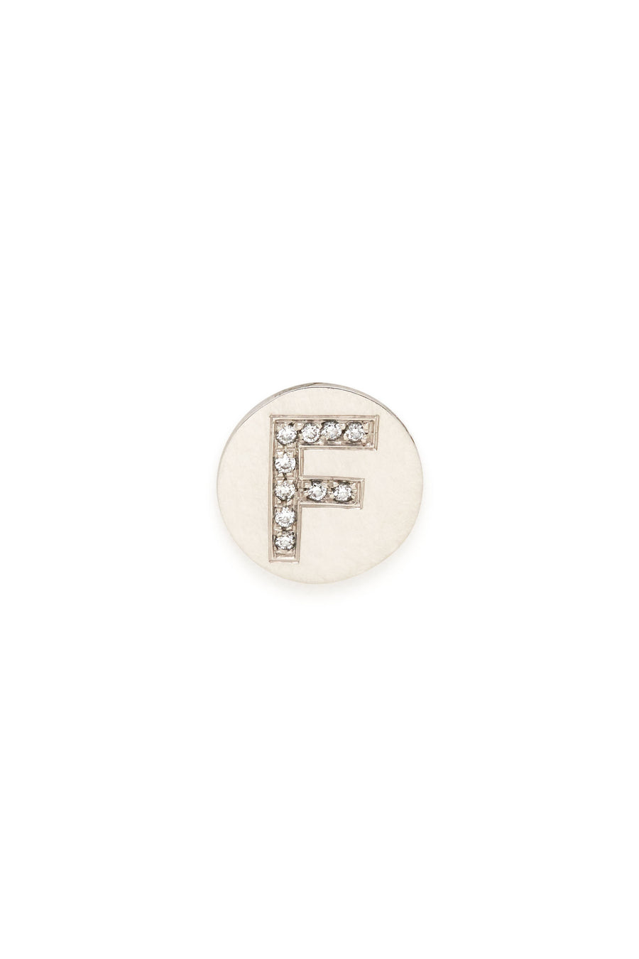 Sterling Silver & Diamond Initial Magnetic Charm - F