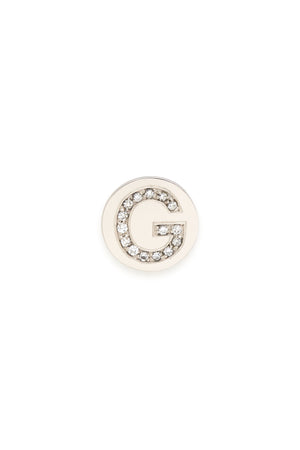 Sterling Silver & Diamond Initial Magnetic Charm - G