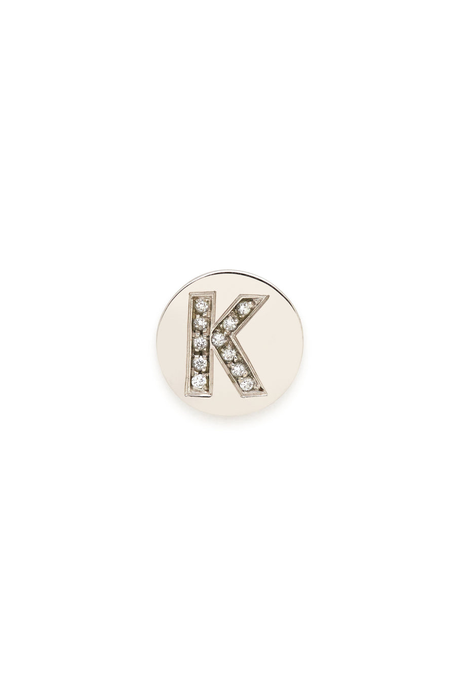 Sterling Silver & Diamond Initial Magnetic Charm - K
