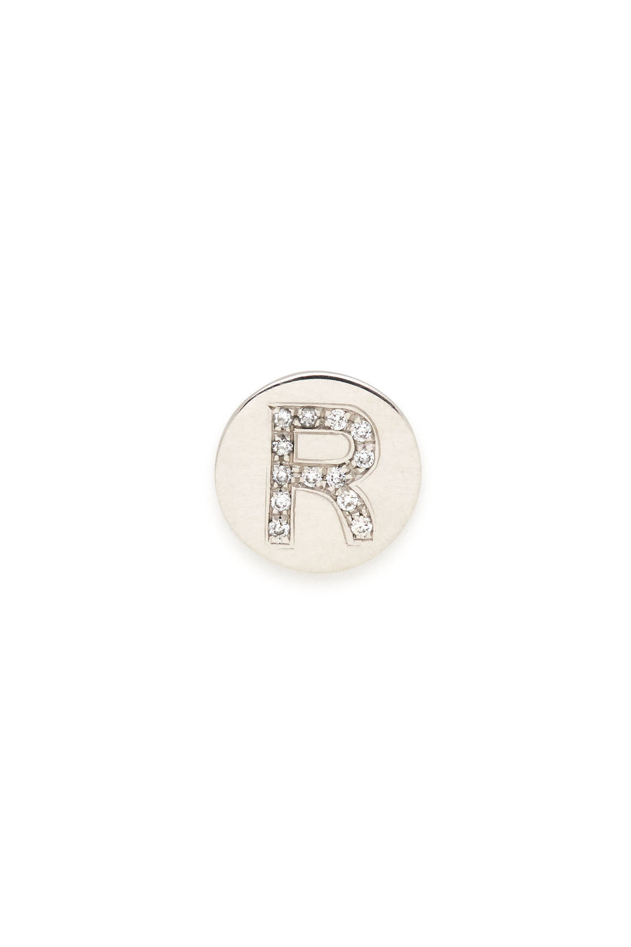 Sterling Silver & Diamond Initial Magnetic Charm - R