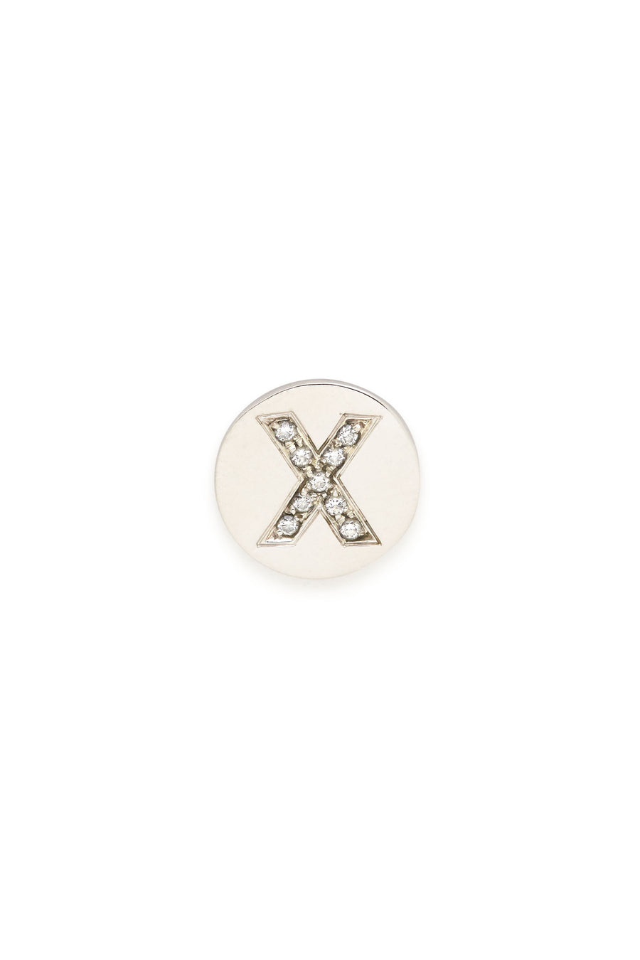 Sterling Silver & Diamond Initial Magnetic Charm - X