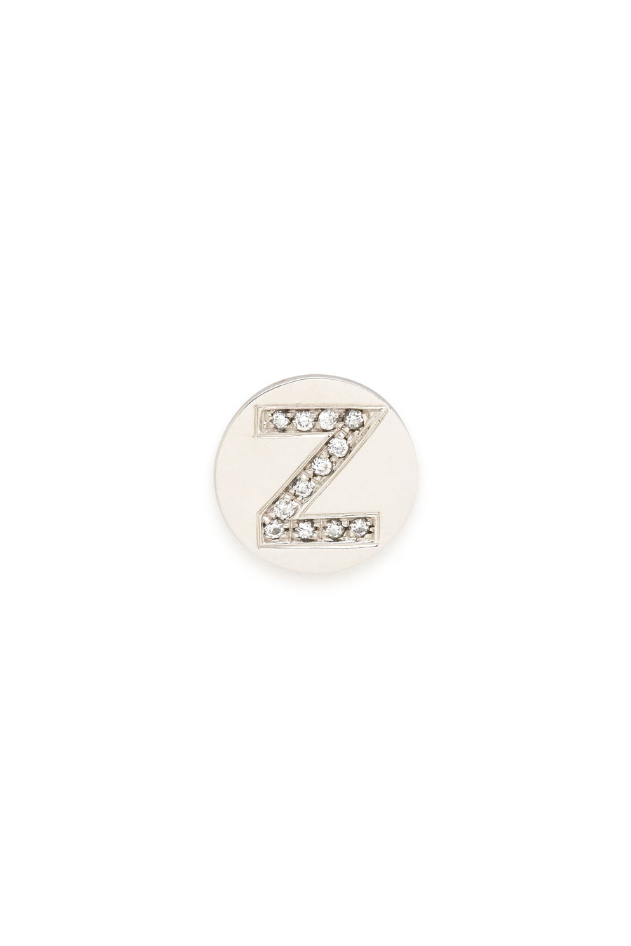 Sterling Silver & Diamond Initial Magnetic Charm - Z