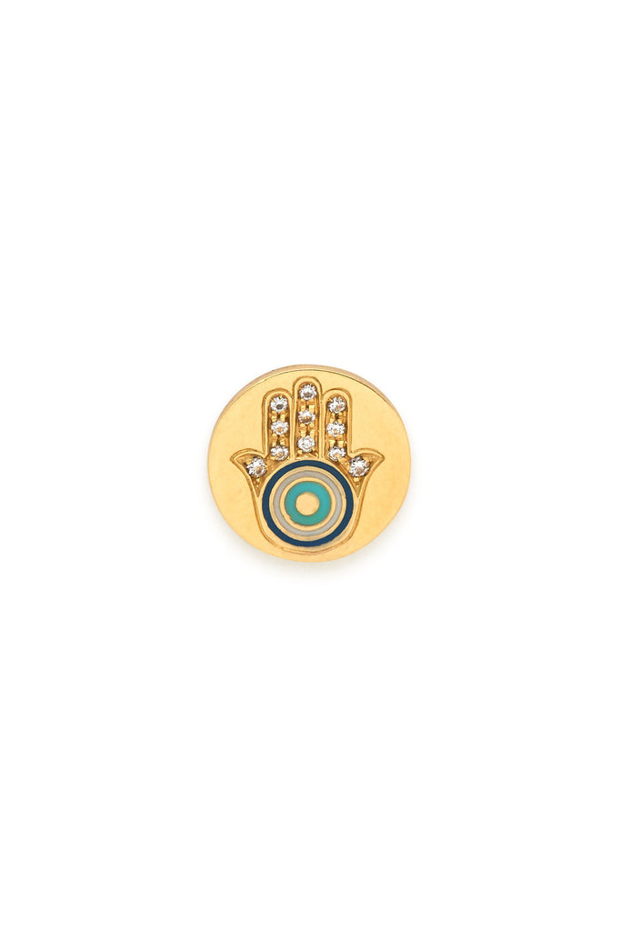 18K Gold and Diamonds Magnetic Hamsa Charm