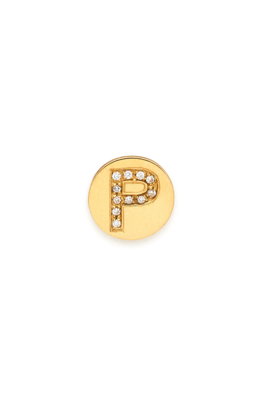 18K Gold & Diamonds Initial Magnetic Charm - P