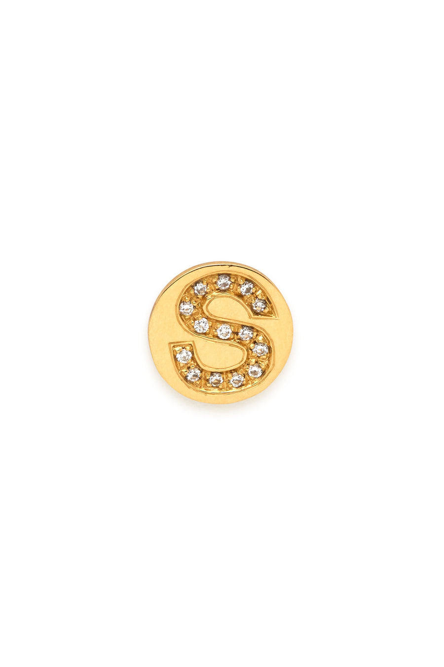 18K Gold & Diamonds Initial Magnetic Charm - S