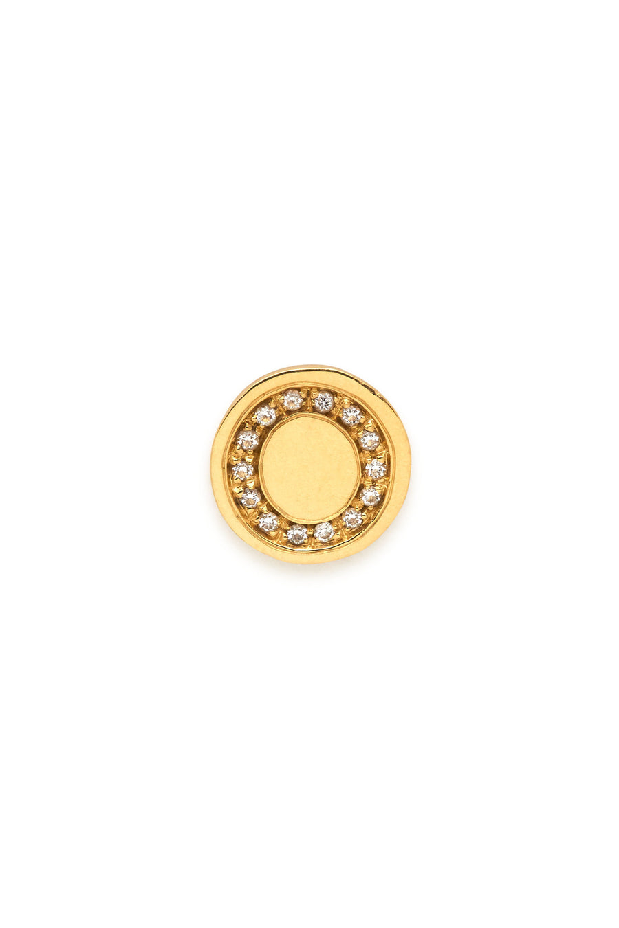 18K Gold & Diamonds Initial Magnetic Charm - O