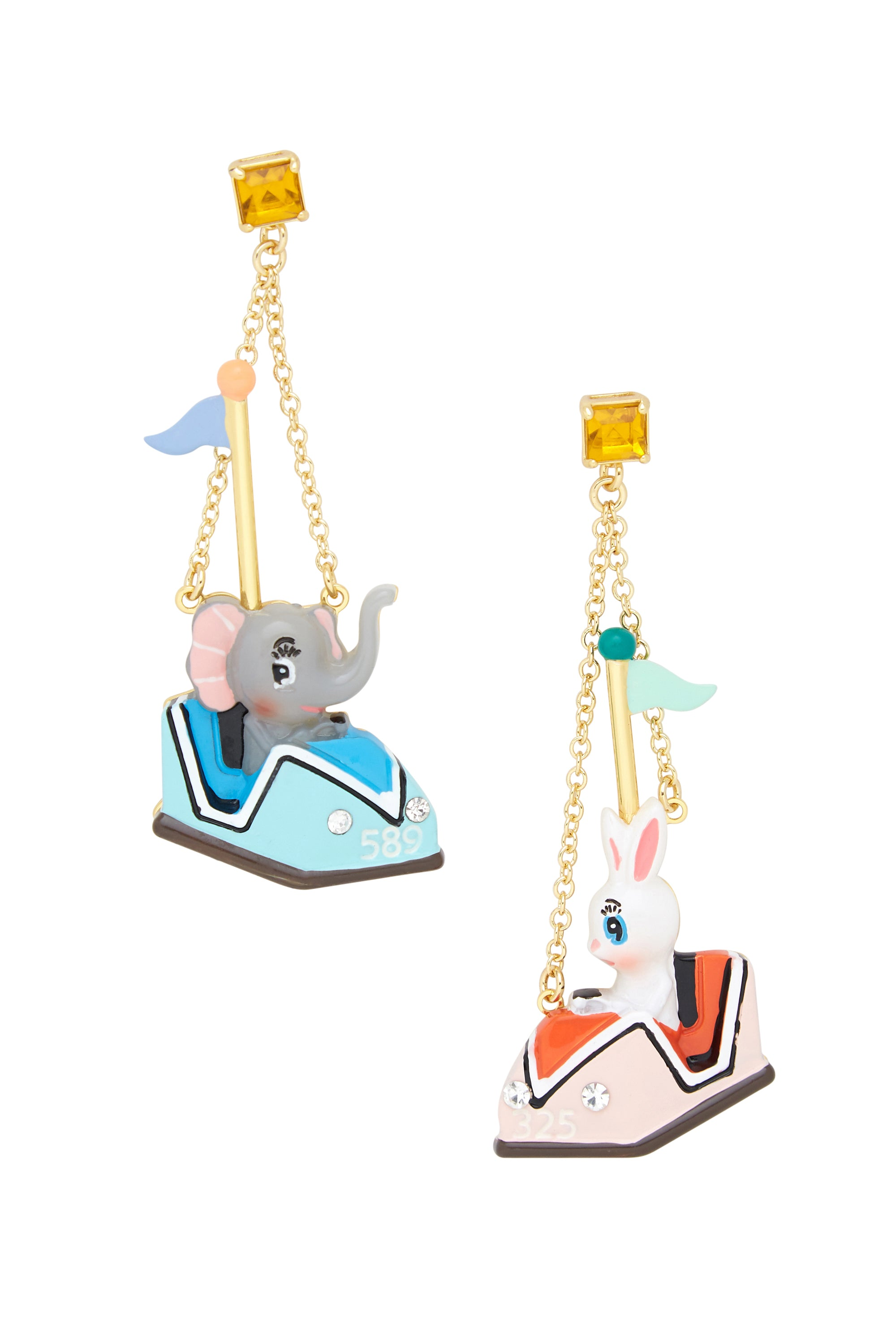 Bumper Car Friends Earrings