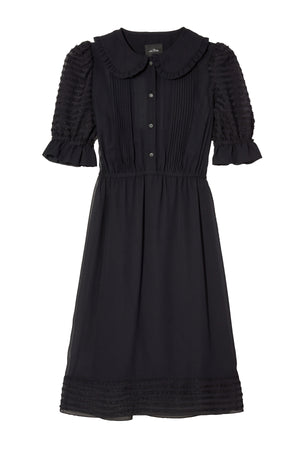 Kat Dress in Black W Crystal Buttons