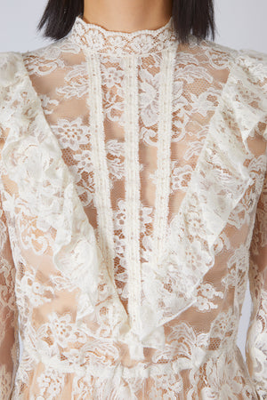 Ivory Victorian Lace Top