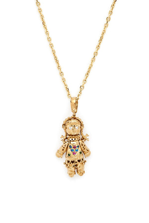 9K Gold & Sapphire Heart Big Bliss Doll Charm