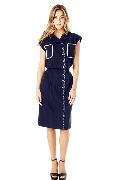 Navy Vintage Chanel Reworked Dress